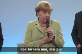 Ecco cosa dice in realtà la Merkel alla bambina che scoppia in lacrime