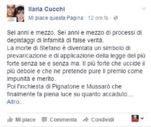 """Ilaria Cucchi schock : """"Perito massone giudica mio fratello Stefano"""""""