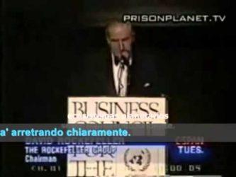 Riduzione della Popolazione Mondiale – Discorso all'ONU di David Rockefeller 2015