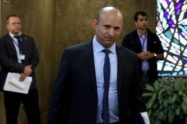 Ministro Israele, fine stato palestinese –