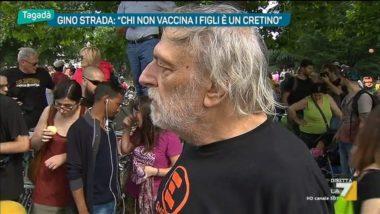Gino Strada: chi non vaccina i propri figli è un cretino, un irresponsabile totale.