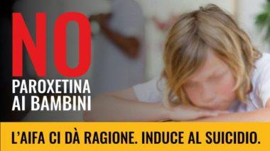 paroxetina il farmaco che induce i bambini al suicidio: M5s Europa – L'AIFA lo conferma