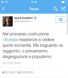 Read more about the article Scandalo sovranità ; Laura Boldrini , giusto cederle .Avv. Marco Mori