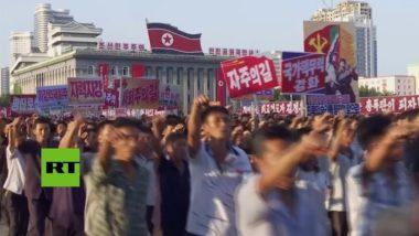 la Corea del Nord manifesta contro le sanzioni imposte dalle Nazioni Unite