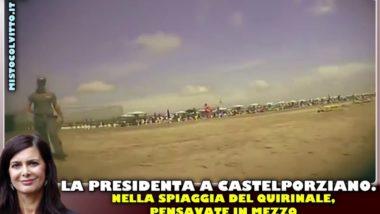 La PRESIDENTA a Castelporziano, spiaggia del Quirinale. DIVIETO DI TRANSITO !