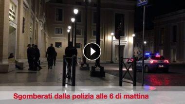 VIDEO: Clochard a S. Pietro mandati via dalla Polizia prima dell'arrivo dei turisti