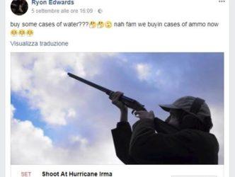La follia degli americani : in 27 mila bersagliano Irma coi fucili