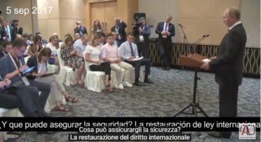 VIDEO. La questione nucleare della Corea del Nord spiegata da Putin in pochi minuti