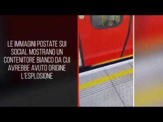 Video ; Esplosione sulla metro di Londra, diversi feriti