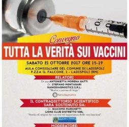 Convegno vaccini, relatori ; Montanari e Gatti . patrocinato dal comune di Ladispoli