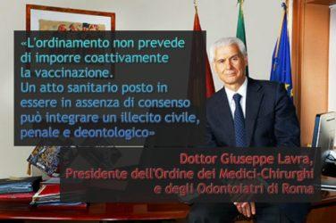 Vaccini, importante ; parla il presidente dell'ordine dei medici di Roma