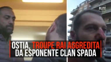 Ostia ; video dell'aggressione alla troupe Rai  da esponente clan Spada