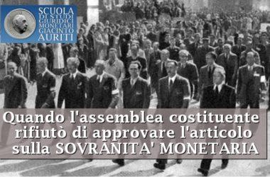 Auriti : interessante articolo sulla sovranità monetaria