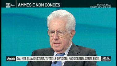 Mario Monti riscende in campo con le sardine