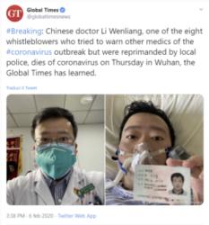 Fake news e coronavirus : morto il medico contagiato che diede l'allarme per primo