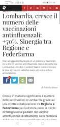 Read more about the article Sinergia tra federfarma e regione : 1 milione e 200 mila vaccini a dicembre 2019