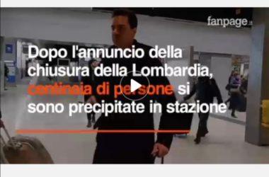 Centinaia di Cittadini fuggono da Milano : video