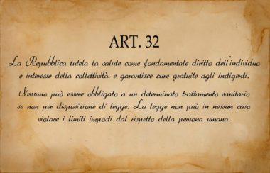 """Art. 32 – Diritto alla salute : é stato trasformato in un """"diritto tiranno"""""""