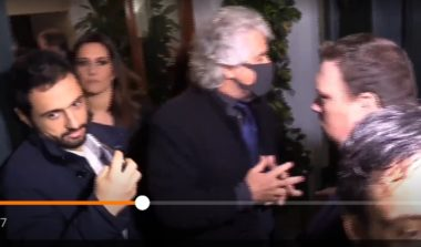 17 dicembre 2019 : Grillo a Roma con la mascherina