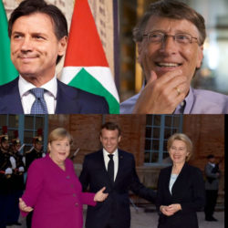 Giuseppe Conte e Bill Gates : patto europeo per il vaccino.  Il documento dei leader Ue