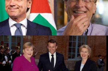 Giuseppe Conte e Bill Gates : patto europeo per il vaccino.  Il documento dei leader Ue