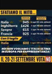 Attenti alla bufala del numero dei parlamentari: l'Italia rischia di finire dietro la Corea del nord