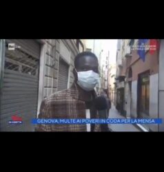 Video : Multati mentre erano in fila alla mensa dei poveri