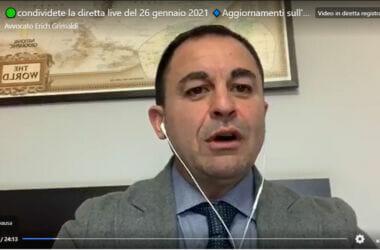 VIDEO: Aggiornamenti sull'andamento del gruppo Facebook #terapiadomiciliarecovid19 – Avvocato Erich Grimaldi