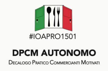 Venerdì 15 Gennaio l'Italia riapre. Iniziano Bar e Ristoranti – #IOAPRO1501 DPCM AUTONOMO
