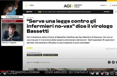 """""""Non si può imporre questo vaccino!"""" ▷ Fusaro risponde al dottor Bassetti che chiede l'allontanamento dal lavoro per chi rifiuta il vaccino"""
