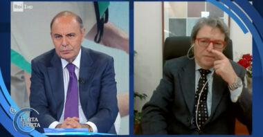 """L'apoteosi della propaganda nazivaccinista: Bruno Vespa sulla TV pubblica, """"se non si vaccina spero sia radiato"""", """"chiudete il collegamento"""""""