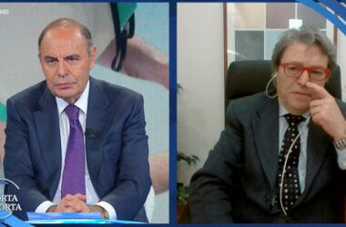 """Read more about the article L'apoteosi della propaganda nazivaccinista: Bruno Vespa sulla TV pubblica, """"se non si vaccina spero sia radiato"""", """"chiudete il collegamento"""""""