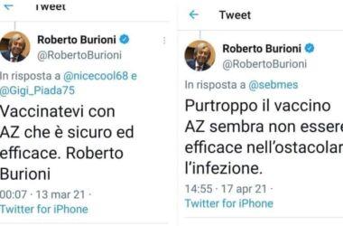 Burioni : post muto