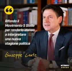 """La confessione di Conte: """" sono impegnato nel rifondare il Movimento 5 stelle"""""""