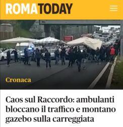Caos a Roma : bloccano il raccordo anulare per 4 ore, protesta riuscita!