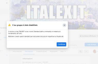 Read more about the article Scandalo Facebook: disabilitato il nostro gruppo con 130 mila iscritti