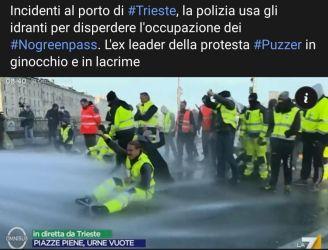 Gli Italiani con i portuali di Trieste per vincere la battaglia, di Francesco Amodeo