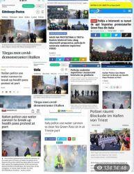 Trieste schock , vergogna internazionale : usata la forza per sgomberare il porto, idranti contro donne e anziani